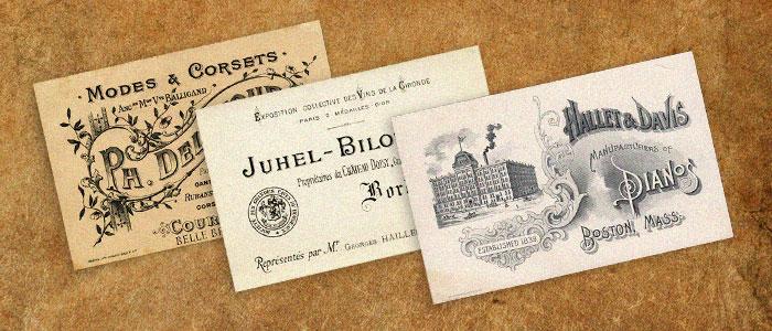 La carte de visite : un élément indispensable.
